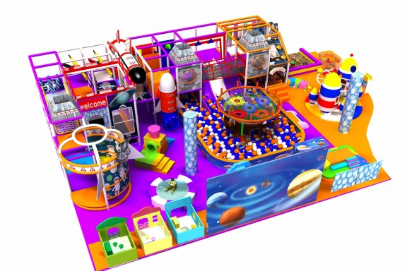 Space indoor playground for children