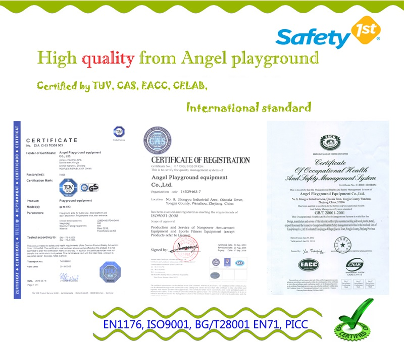 soft play equipment-certification