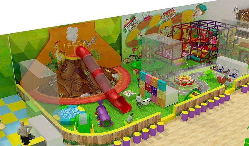 Comercial indoor soft playground