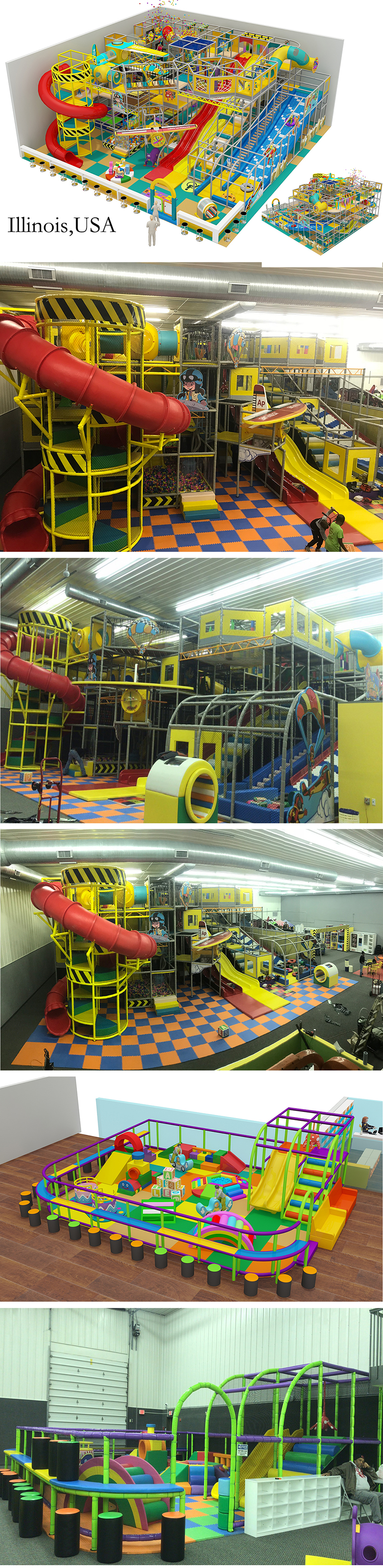 Commercial indoor kids playground