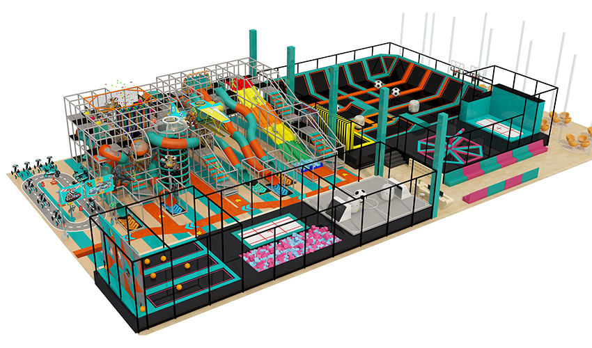 Commercial children's indoor playground